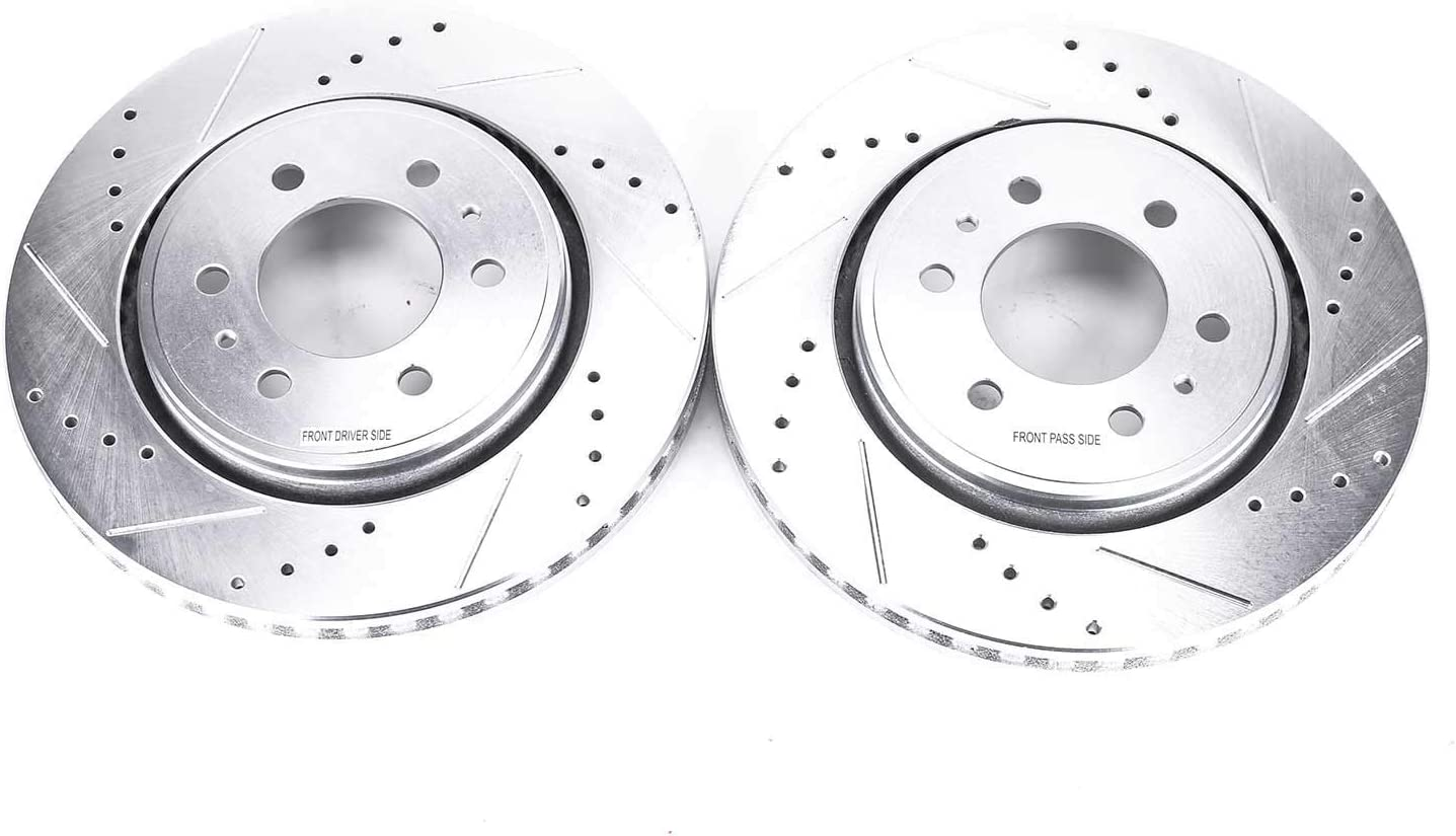 Power Stop AR8280XPR Front Evolution Drilled /& Slotted Rotor Pair
