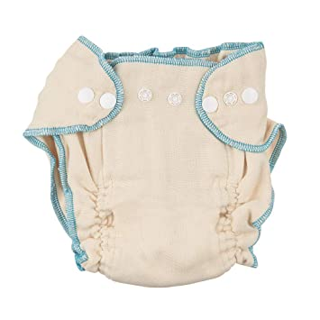 f14b9b1096b59 Amazon.com : Linteum Textile (3-Pack, Large 21-30 lb), Fitted Cloth Diapers  with Snap Closures, 100% Cotton : Baby