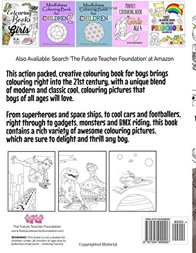 Colouring Books For Boys: Cool Colouring Book For Boys Aged 6-12 ...