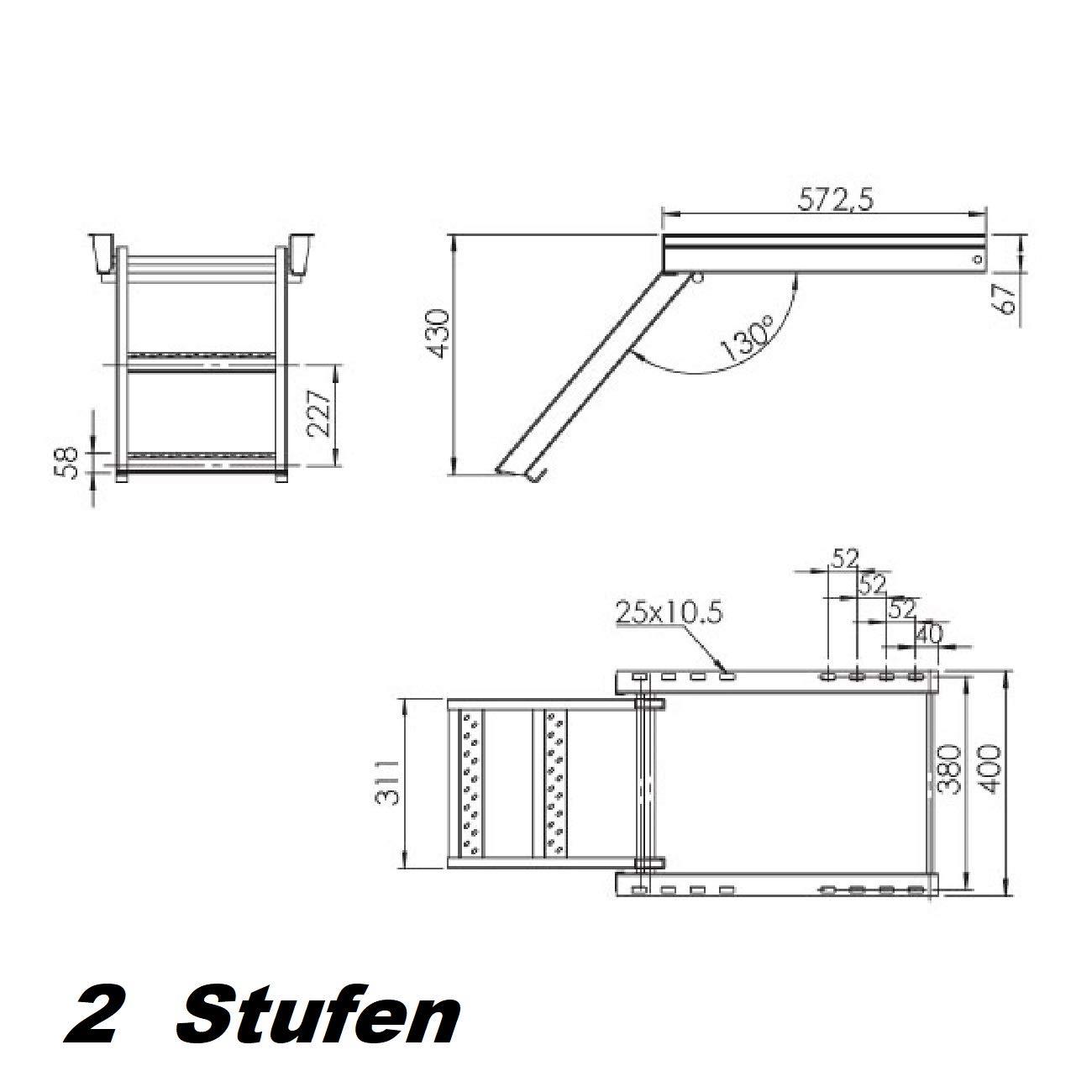 escalera de mano de 2 pasos Escalera de mano escalera de mano escalera de construcci/ón escalera de cami/ón remolque
