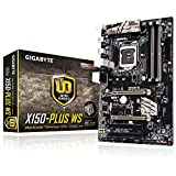 Gigabyte Ga-X150-Plus Motherboard, Support Intel Xeon E3-1200/I3/Pentium/Celeron, Socket 1151, Chipset C232, 4 X DDR4 MAX 64Gb, Support Windows 8.1/10 64 bits, Win 7 Tool