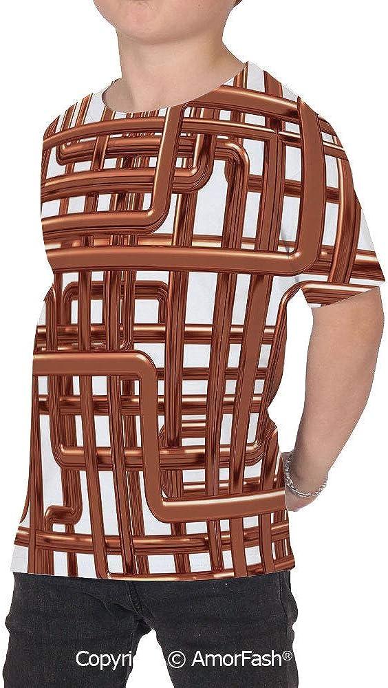 Copper Decor Original Printed Short Sleeve Shirt Size XS-2XL Big,Knot of Copper
