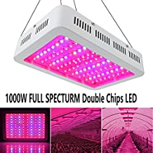 1000Watt LED Grow Light Double Chips FULL SPECTRUM with UV&IR, EnerEco Super Bright, LED Grow Lights Lamp for Greenhouse Hydroponic Garden Indoor Plants Veg and Flower All Stages of Plant Growth