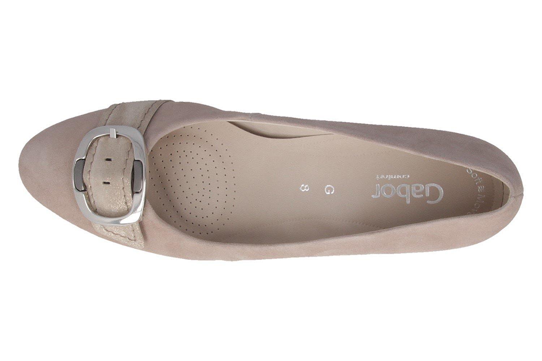 42ab0160a08e3 ... Gabor Gris - Zapatos de vestir de Piel para mujer Gris Gabor gris  812d3a ...