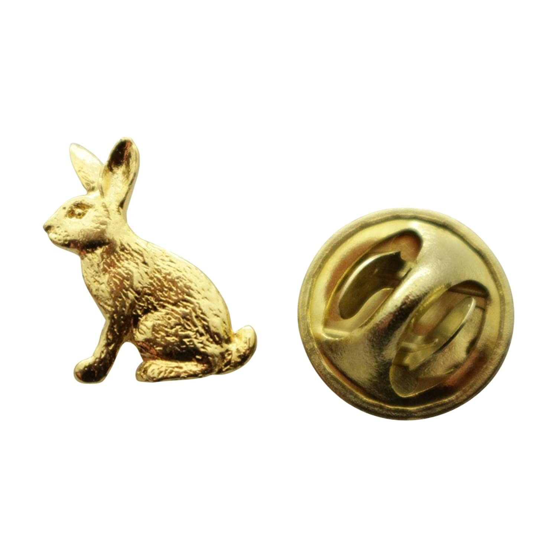 discount Rabbit Mini Pin ~ 24K Gold ~ Miniature Lapel Pin ~ Sarah's Treats & Treasures for cheap
