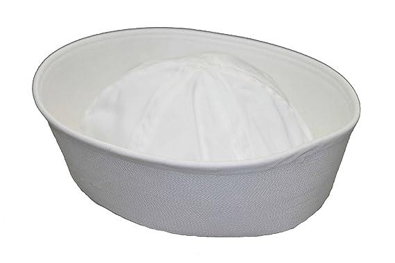 Amazon.com  Genuine Issue GI White Military US Navy Cotton GOB Sailor Hat   Clothing eae46849bfe