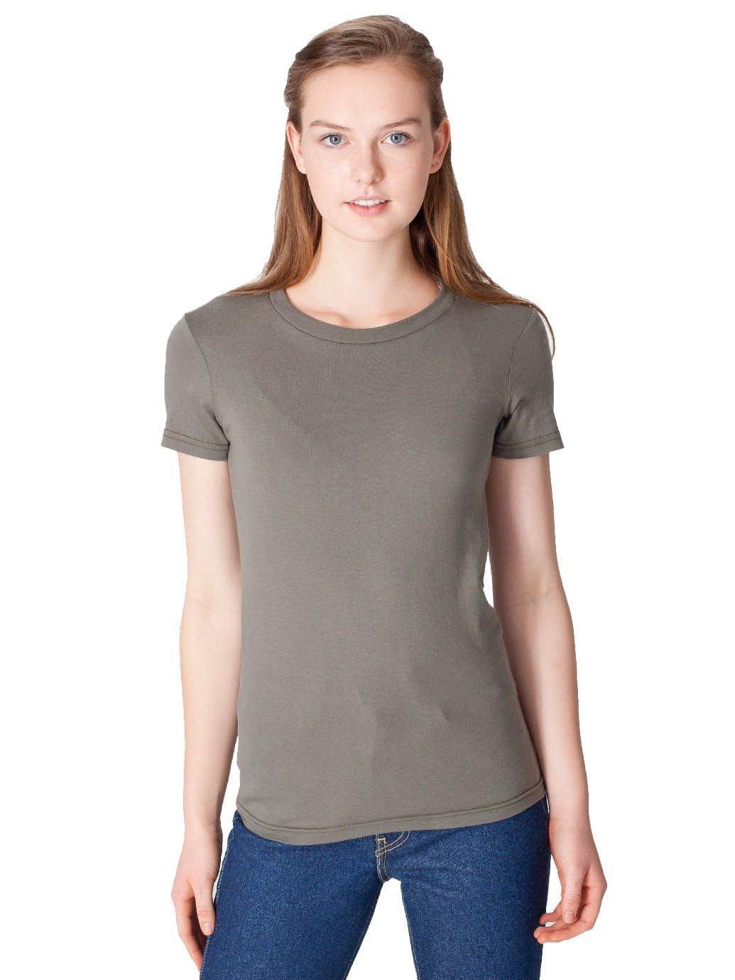 American Apparel Women's Fine Jersey Short Sleeve Women's's T Size XL Lieutenant