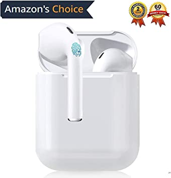 Auricular Bluetooth 5.0, Auricular inalámbrico, micrófono y Caja de Carga incorporados, reducción del Ruido estéreo 3D HD, para Auriculares iPhone/Android/Apple Airpods Pro/Samsung/Huawei Xiaomi: Amazon.es: Electrónica