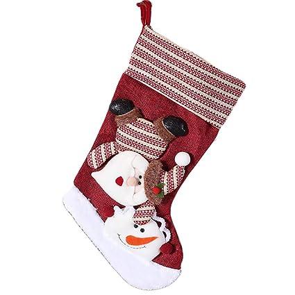 Hilai Calcetines de Navidad Colgar Adornos calcetín Calcetines Caramelo Colgante Bolsa de Regalo para el Hombre