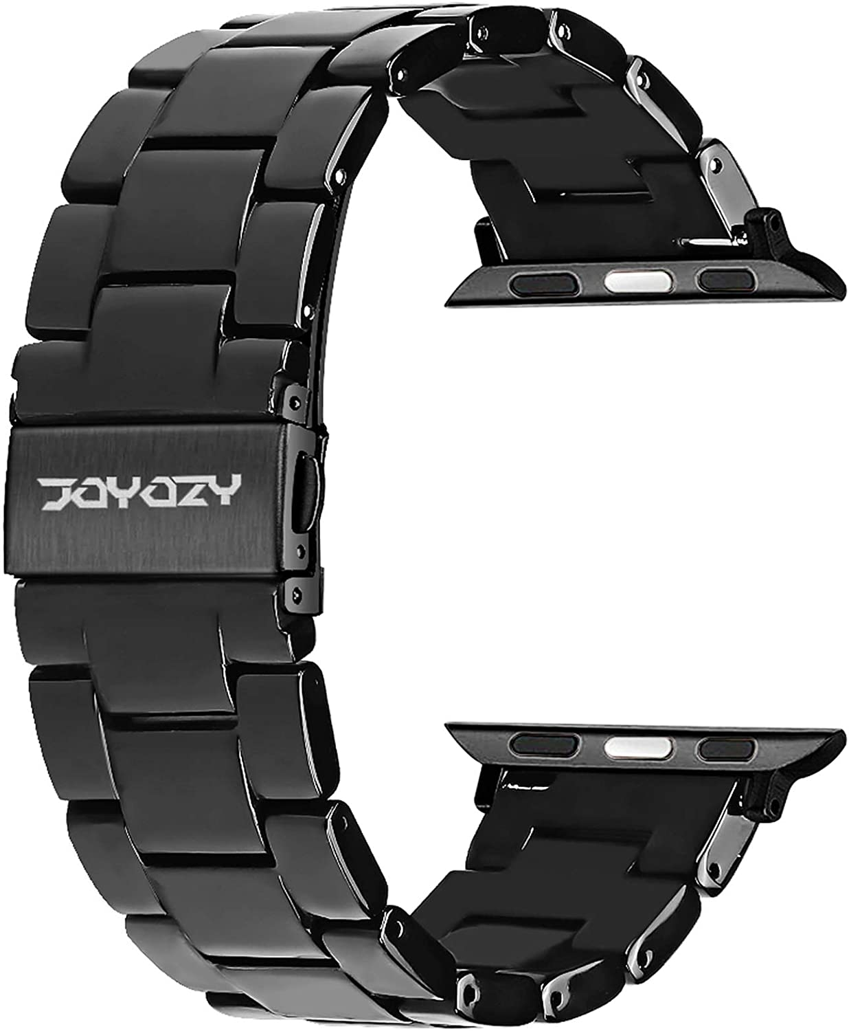 Joyozy Compatible with Apple Watch Bands 38mm 40mm, Resin Wristbands Replacement for iWatch SE& Series 6/5/4/3/2/1 for Women Men Gift Fashion Bracelet-(38mm/40mm, Perfect Black)