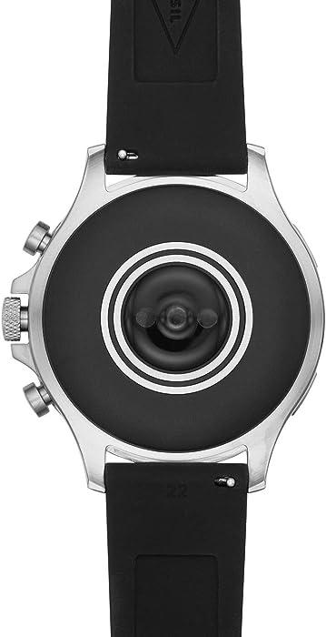 Smartwatch Fossil Garrett HR Gen 5 Silver Black FTW4041: Amazon.es ...