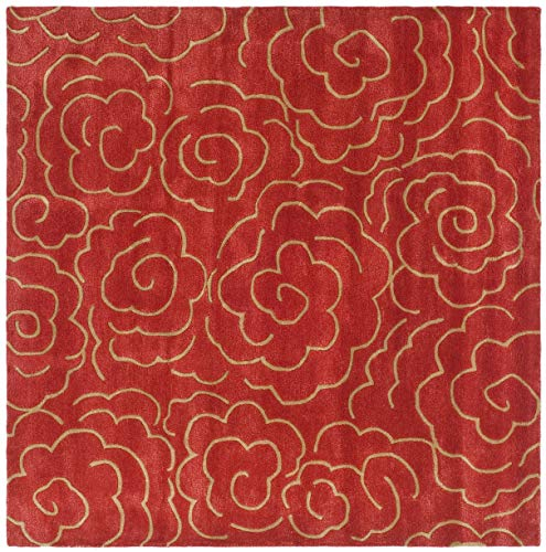 Safavieh Soho Collection SOH812A Handmade Red Premium Wool Area Rug 5 x 8