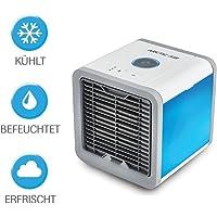 Arctic Air mobiles Klimagerät Cool Luftkühler Befeuchter Ventilator mit USB Anschluß oder Netzstecker   Hydro-Chill Technologie    3 Kühlstufen - 7 Stimmungslichter   Das Original von Mediashop