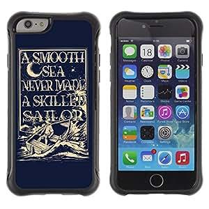 ZAKO Cases / Apple Iphone 6 PLUS 5.5 / Sailor Captain Illustration / Robusto Prueba de choques Caso Billetera cubierta Shell Armor Funda Case Cover Slim Armor