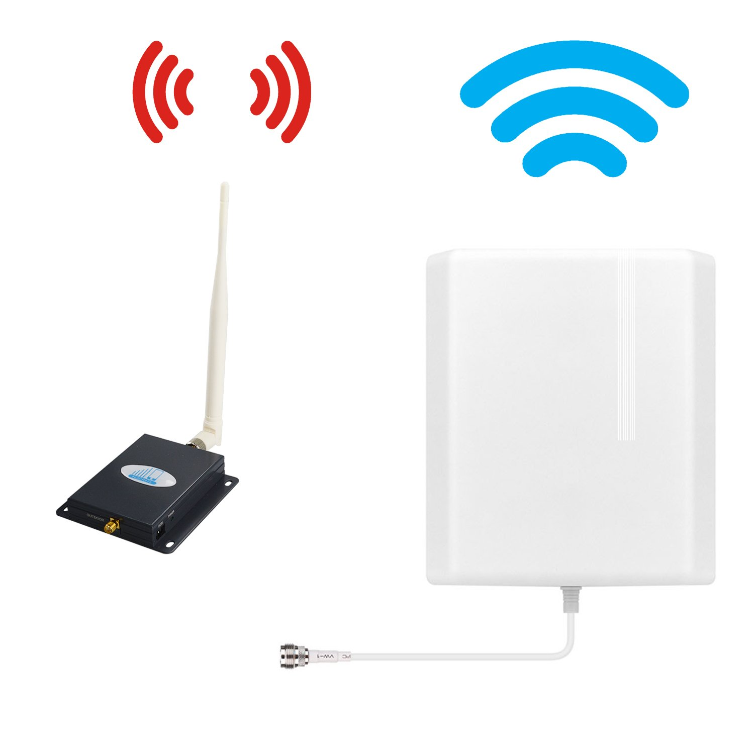 Verizon Cell Phone Signal Booster 4G Lte Cell Booster HJCINTL 700MHz Band 13 Home Mobile Phone Signal Repeater Amplifier Kit Cover- 1500sq ft