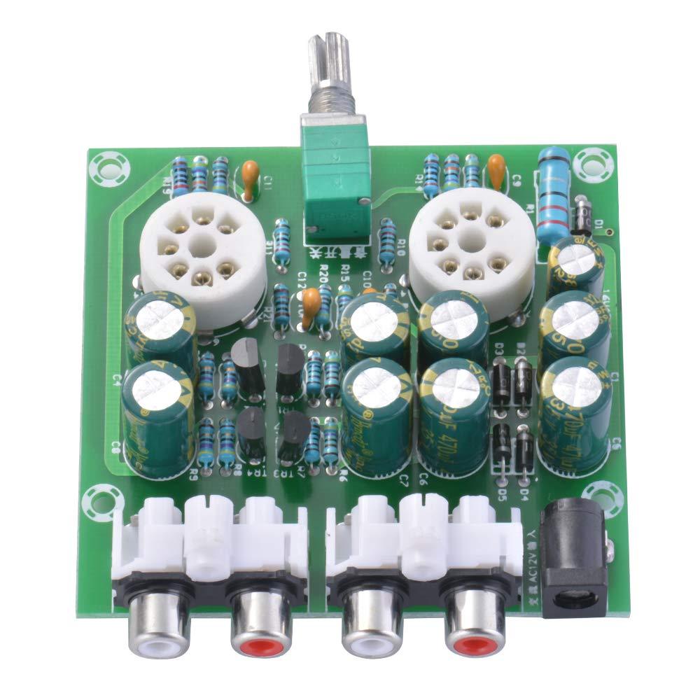 Tutmonda 6J2 Amplificadores de Tubos Placa Pre-Amp Amplificador Mezclador Audio Válvula montada en la Parte Delantera Preamplificador bilis Módulo: ...