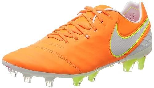 the best attitude 217a4 25ffc Nike Tiempo Legend Vi FG, Zapatillas de Fútbol para Mujer, Naranja  (Tart White-Volt-Hyper Pink), 39 EU  Amazon.es  Zapatos y complementos