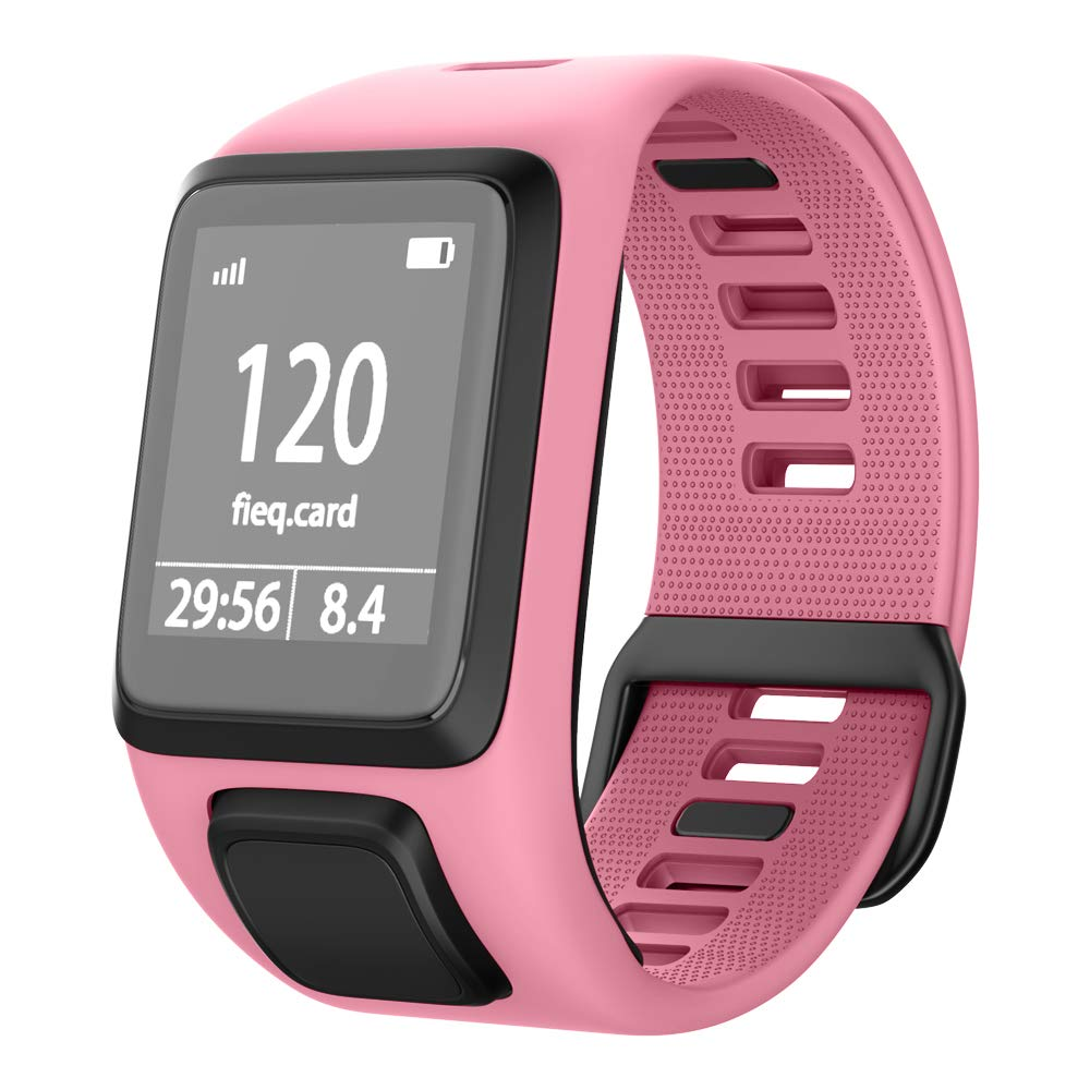 NotoCity Compatible with Tomtom Watch Band Silicone Watch Strap Replacement for Spark/Spark 3/Golfer 2/Adventurer/Runner 2/3 Smartwatch(Pink)
