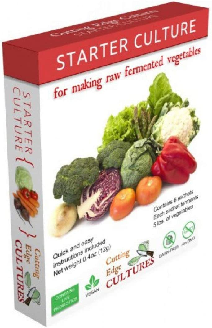 Cutting Edge Cultures Vegetable Starter Culture, 6 Pouches, 12g