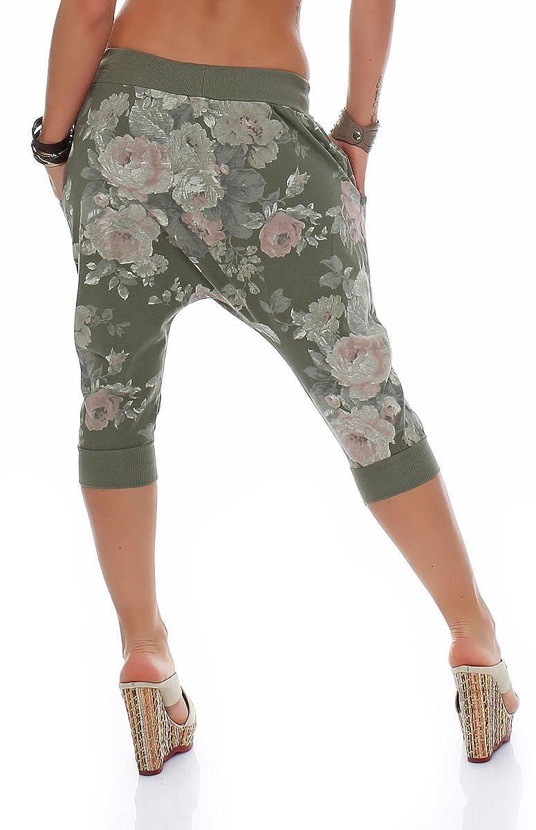 Malito Corto Baggy pantal/ón Harem Boyfriend Aladin Yoga 20027 Mujer Talla /Única