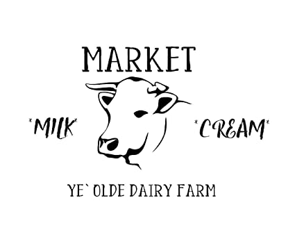 Farmhouse Cow Rustic Market Mylar Stencil, for Painting,Home Decor
