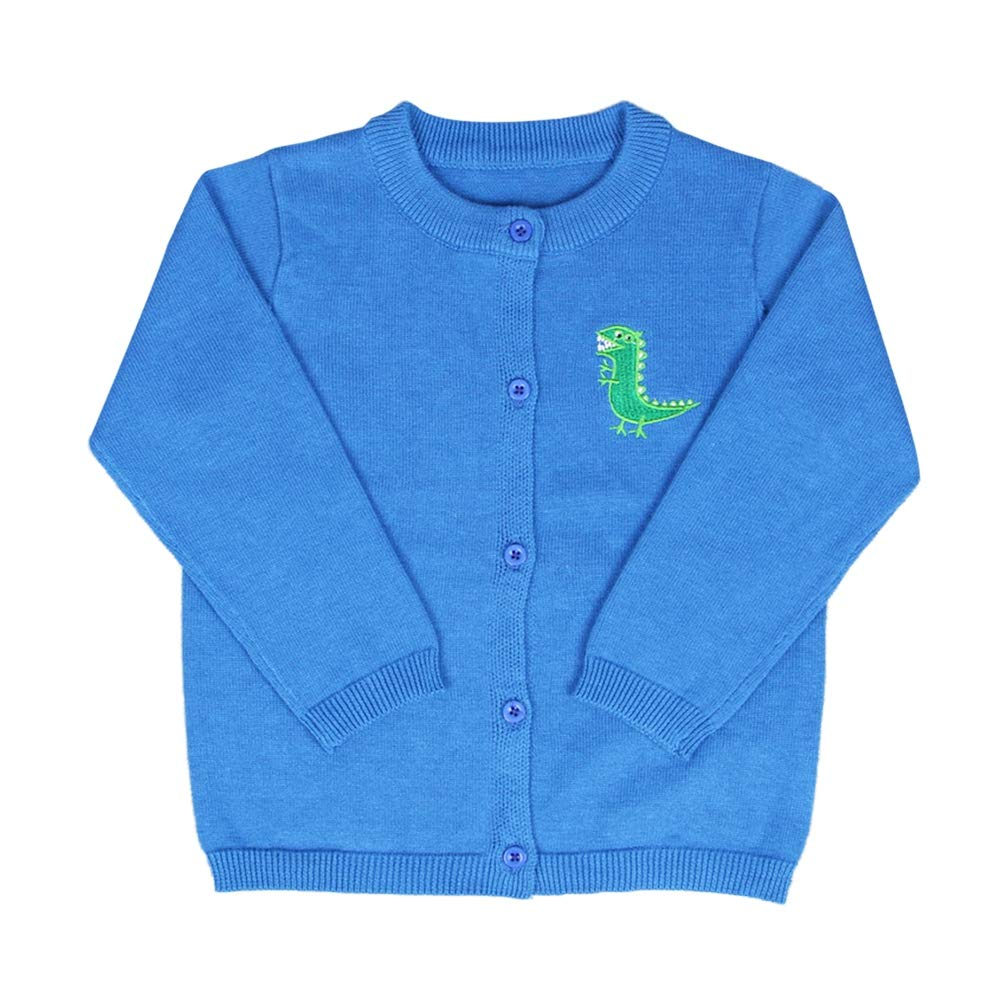 BOBORA Baby Girl Boy Knitted Cardigan Kids Long Sleeved Winter Plain Knitted Sweatshirt with Cute Animals for 1-6Years BO-UK995