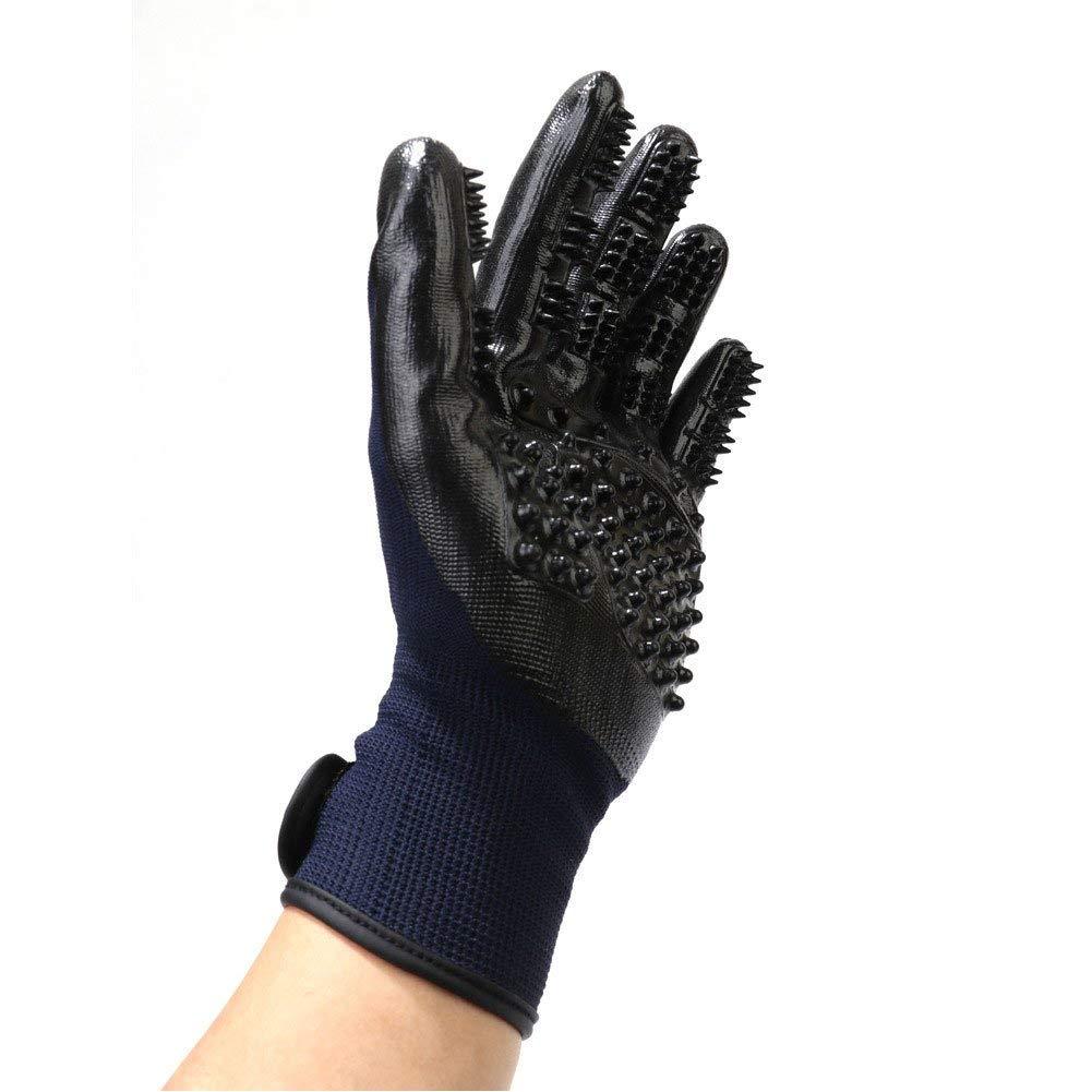 Borijiche Pet Gloves Bath Massage Multi-Purpose Dog Dog Hummer Gloves (Color : -, Size : -)