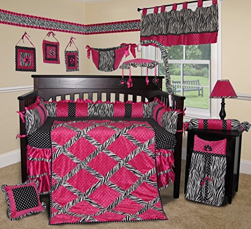 (SISI Baby Bedding - Hot Pink Zebra 13 PCS Crib)