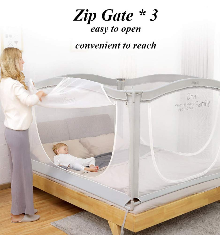 Anti-Falling Bed for Baby/Toddler/Children, Guardrail Heightening Crib, Anti-Drop Bed Guardrail, Child Shatter-Resistant Fence, Baby Bed Fence … (1.8m(70.9'') Width) by YU KEN (Image #6)