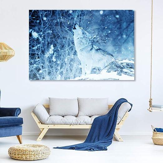 "16/""x24/""Animal Wolf Paintings HD Canvas Print 16/""x24/"" Home Decor Room Wall Art"