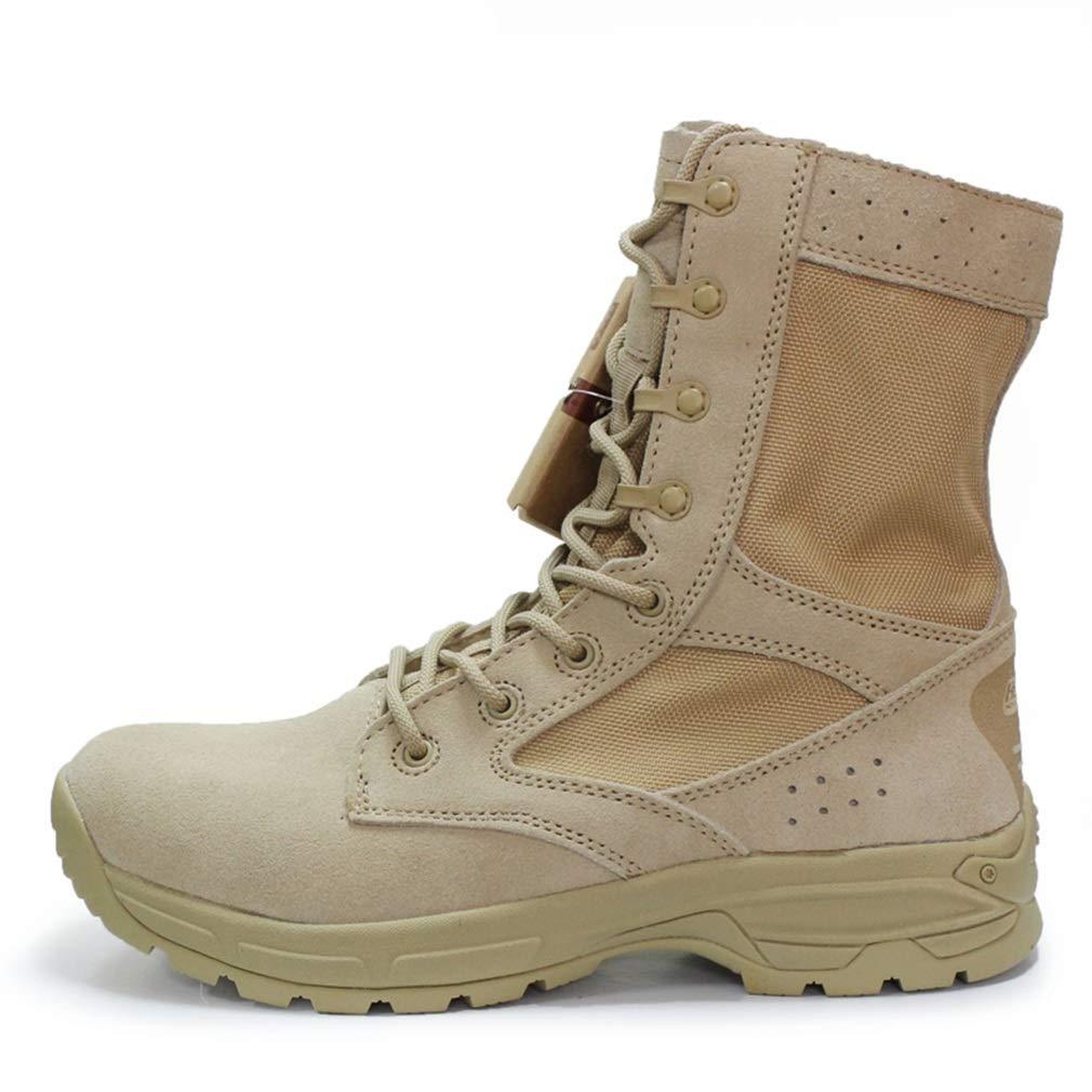 Hy Herren Werkzeug Stiefel, Herbst Winter Outdoor Slip-Ons Desert Combat Stiefel, Wanderschuhe Klettern Turnschuhe Militärstiefel (Farbe : EIN, Größe : 41)