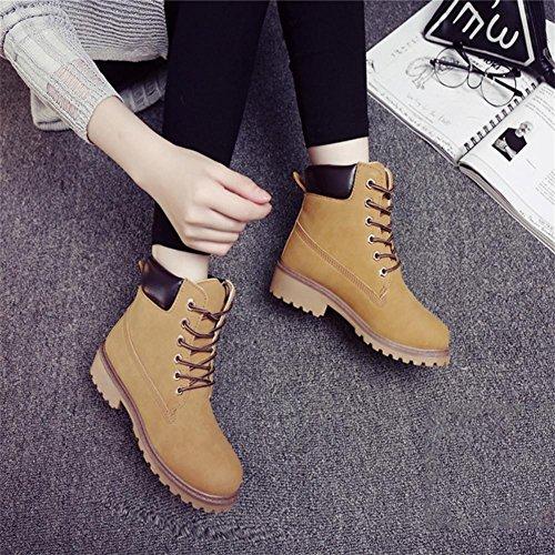 invierno e terciopelo alto ayudar brit¨¢nicas antideslizante oras Z botas retro se Oto Khaki hembra m¨¢s para o amp;HX botas Martin IqxF7w1g4t
