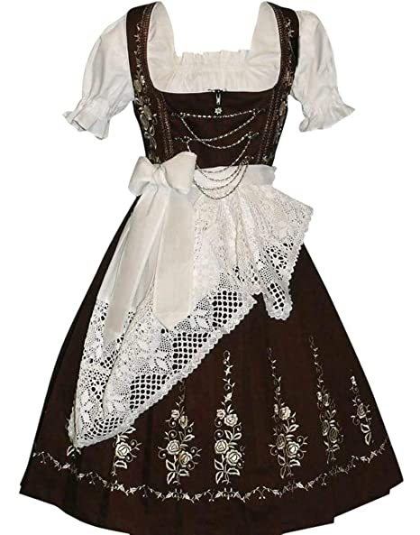 Amazon.com: Dirndl Trachten Haus 3-Piece largo German Wear ...