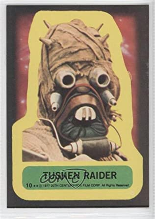 Tusken raider trading card 1977 topps star wars stickers 10