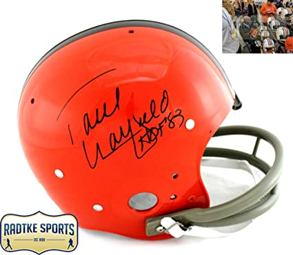f0b30c5f8 Paul Warfield Autographed Signed Cleveland Browns Riddell TK Suspension  Full Size NFL Helmet With quot