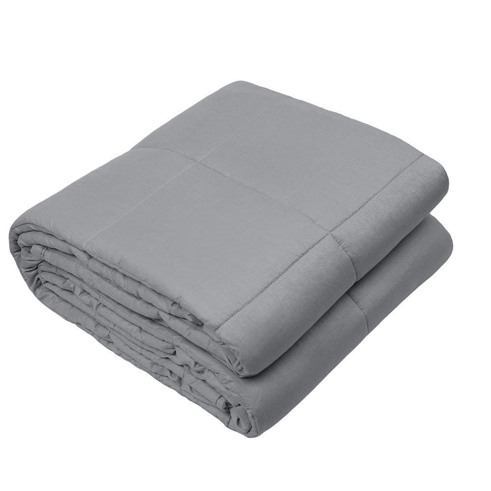 Viki Soft Weighted Blanket (36''x 48'', 4lbs for 30-50lbs individual, Dark Grey) for Kids, Children | Helps Reduce Stress and Anxiety, Great for ADHD, Autism, OCD, and Sensory Processing Disorder