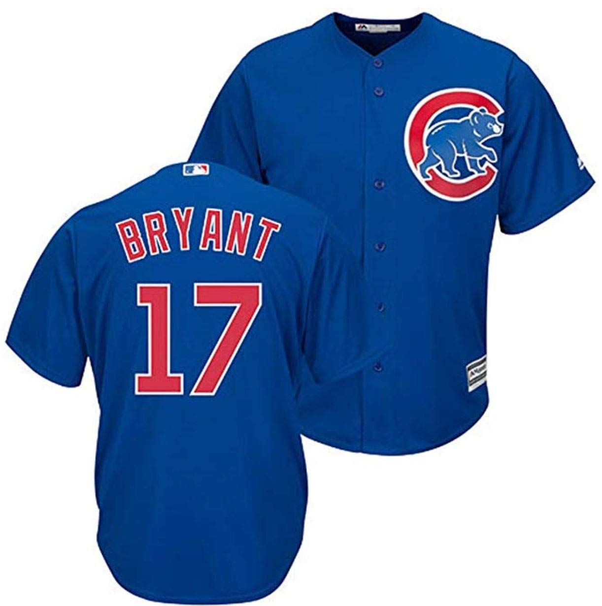 Outerstuff Kris Bryant Chicago Cubs MLB Majestic Youth 8-20 Blue Alternate Cool Base Replica Jersey