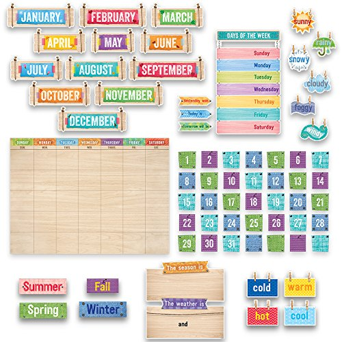Creative Teaching Press Upcycle Style Calendar Set Bulletin Board (7061) Circle Time
