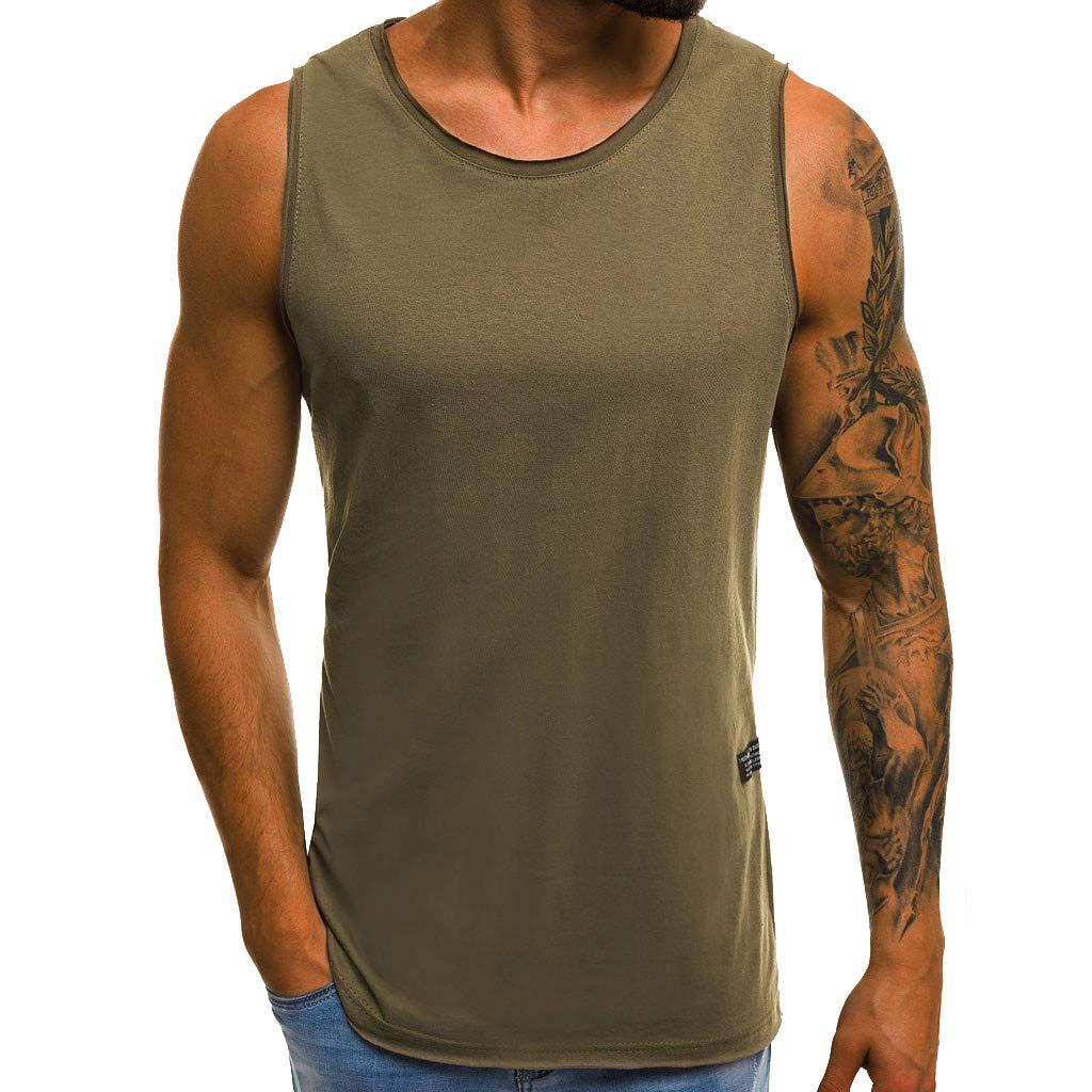 para Hombre Giulogre Camiseta de Tirantes