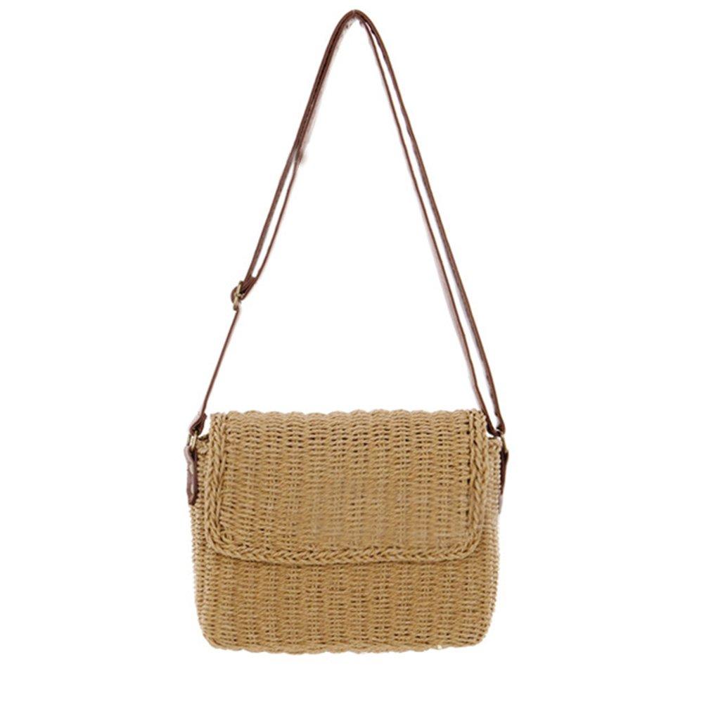 03c36d57d117 Amazon.com: HOSPORT Women Straw Shoulder Bag Flap Crossbody Handbag Summer  Casual Bag: Home & Kitchen