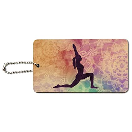 Amazon.com | High Lunge Crescent Variation Yoga Pose Wood ...
