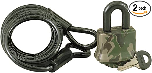 NEW Master Lock 1317DSPT Cable Lock Padlock 6 Foot FREE SHIPPING ~ Camouflage