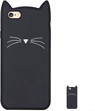 HopMore Gato Funda para iPhone 6S / 6 (4.7 Inch) Silicona Motivo ...