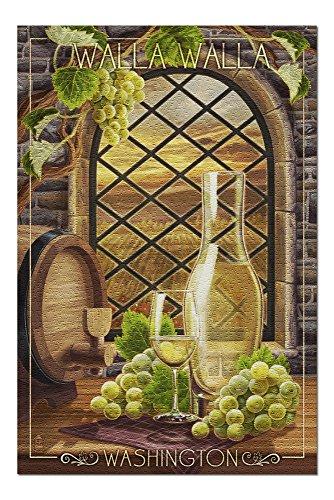 Walla Walla, Washington - Chardonnay (20x30 Premium 1000 Piece Jigsaw Puzzle, Made in USA!)