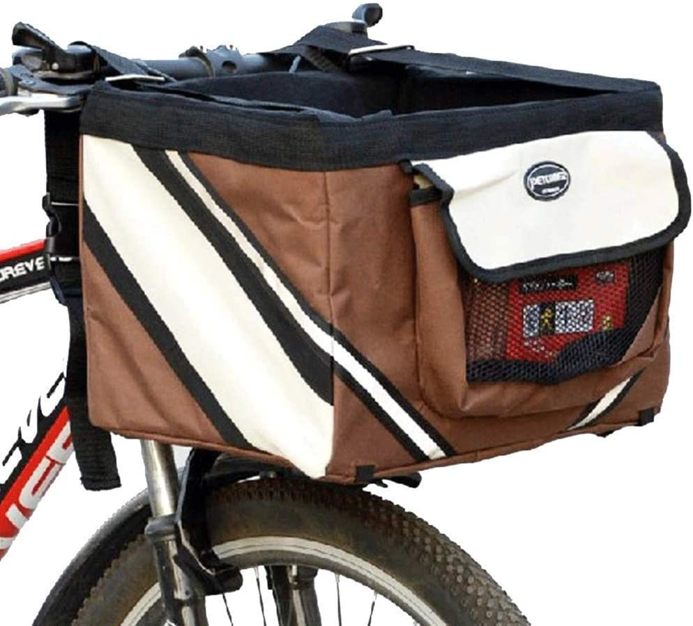 Folding Bicycle Basket Small Pet Carrier Front Bike Handlebar Basket Bag GS UK