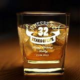 DEZAINS Whiskey Glass for Birthday - Set of 2