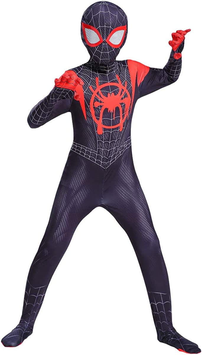Superhero Spiderman:Miles Morales Costume for Kids,Far from Home Cosplay Costumes for Boys