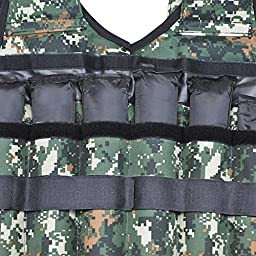 go2buy 44lbs Weight Vest Adjustable Camo Weighted Vest Training Fitness