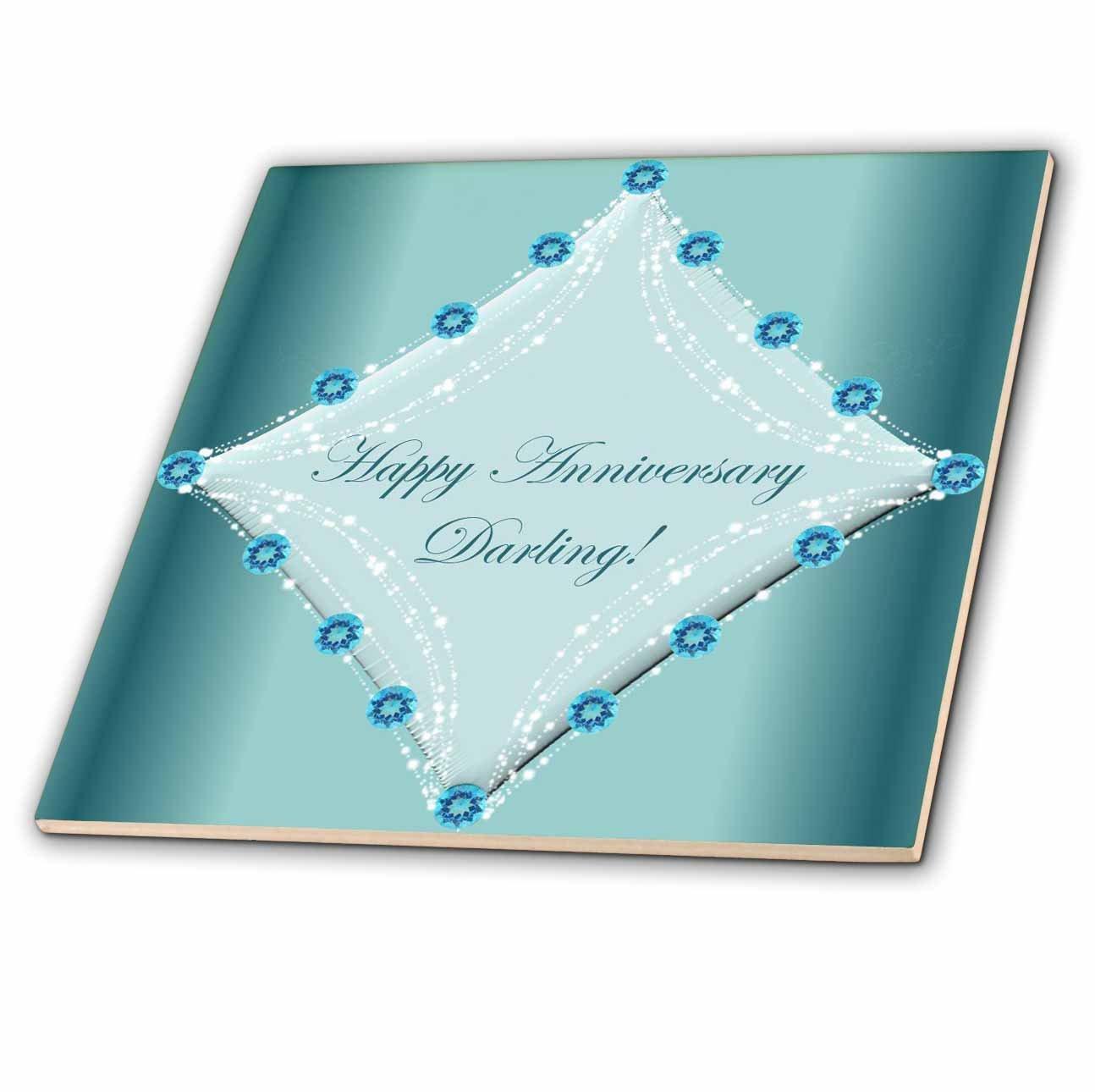 6-Inch 3dRose ct/_33042/_2 Happy Anniversary Darling-Ceramic Tile