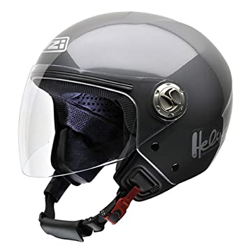 NZI 050203G051 Helix IV Metal Casco de Moto, Color Antracita, Talla 54 (XS